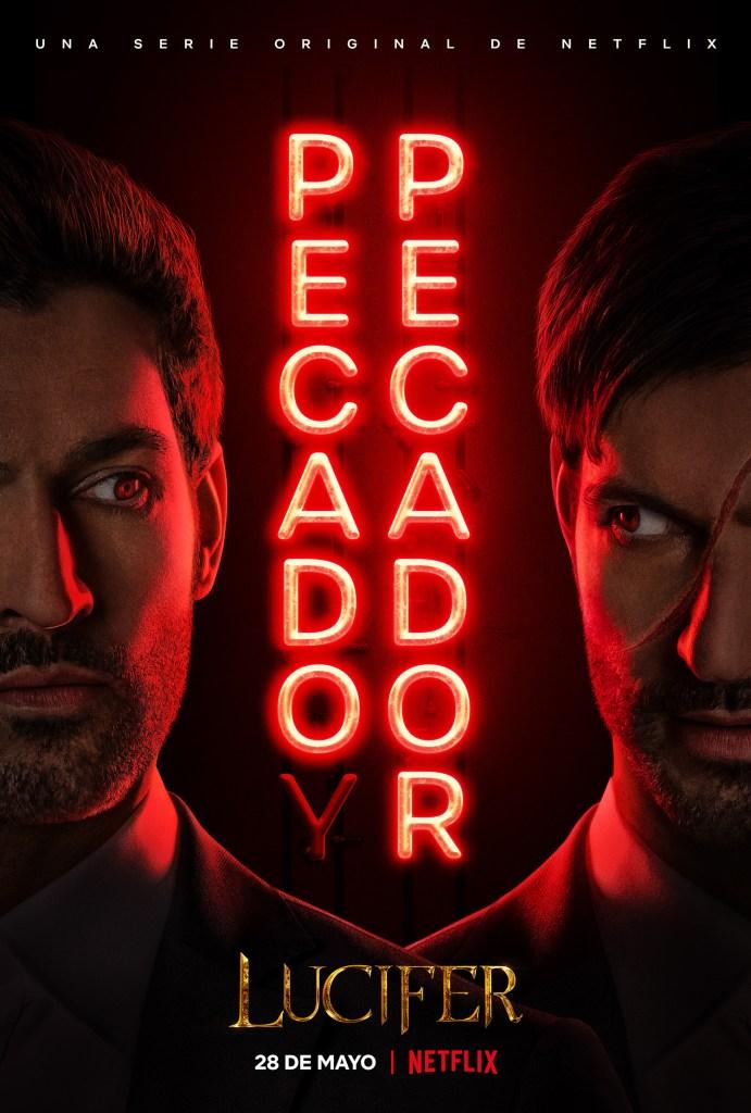 Póster en español de la temporada 5 (Parte 2) o 5B de Lucifer. Imagen: Netflix Latinoamérica Twitter (@NetflixLAT).