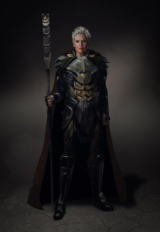Granny Goodness en arte conceptual de Zack Snyder's Justice League (2021). Imagen: Jojo Aguilar Twitter (@jojoaguilar33).