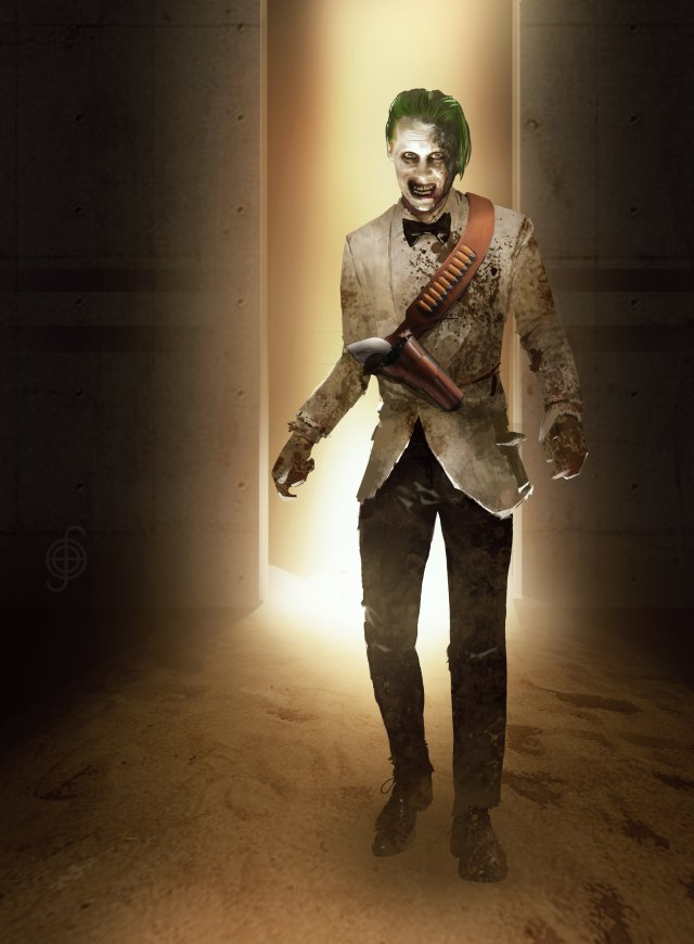 The Joker (Jared Leto) en arte conceptual de Zack Snyder's Justice League (2021). Imagen: Jojo Aguilar Twitter (@jojoaguilar33).