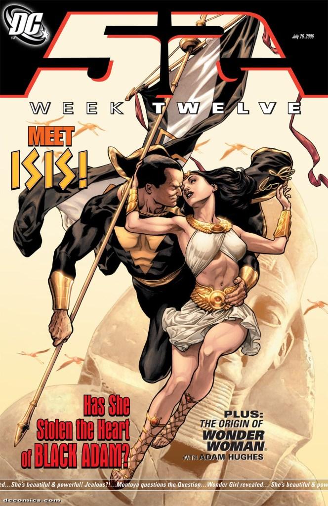Black Adam e Isis en la portada de 52 #12 (26 de julio de 2006). Imagen: zipcomic.com