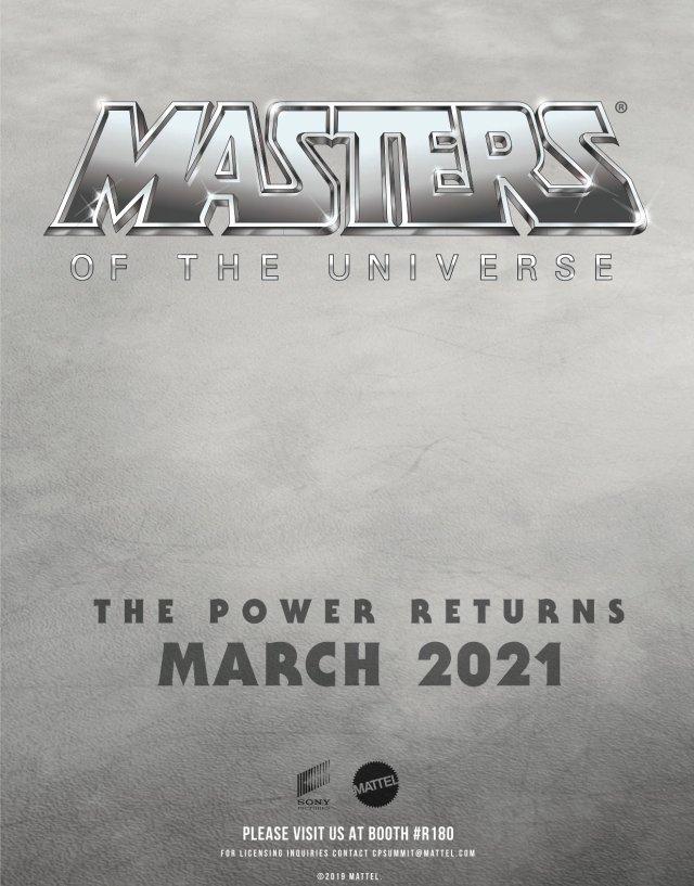 Póster de Masters of the Universe anunciando el estreno en marzo de 2021 (Estados Unidos). Imagen: Imagen: Film Stories Twitter (@filmstoriespod).