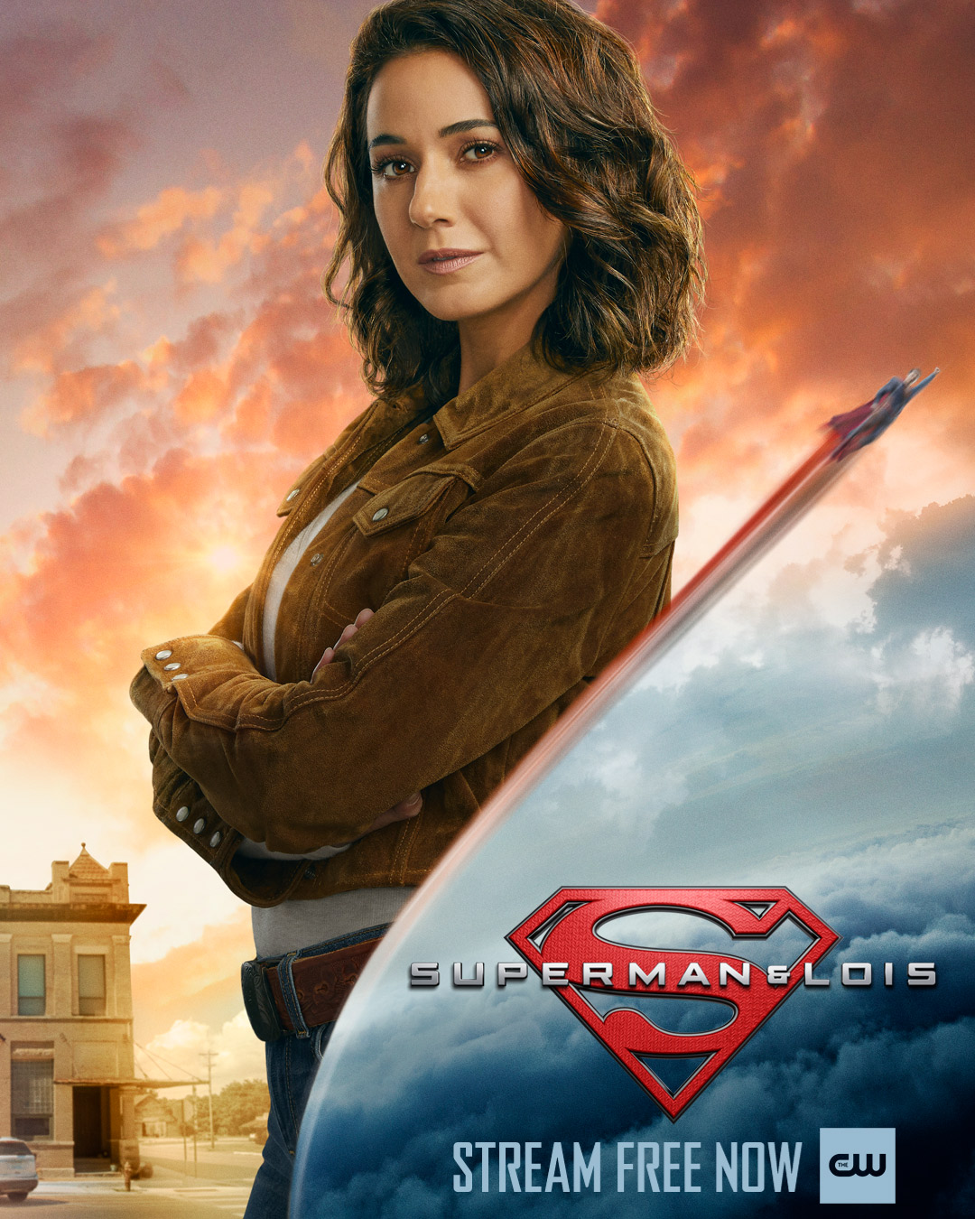 Lana Lang Cushing (Emmanuelle Chriqui) en un póster de Superman & Lois. Imagen: Superman & Lois Twitter (@cwsupermanandlois).