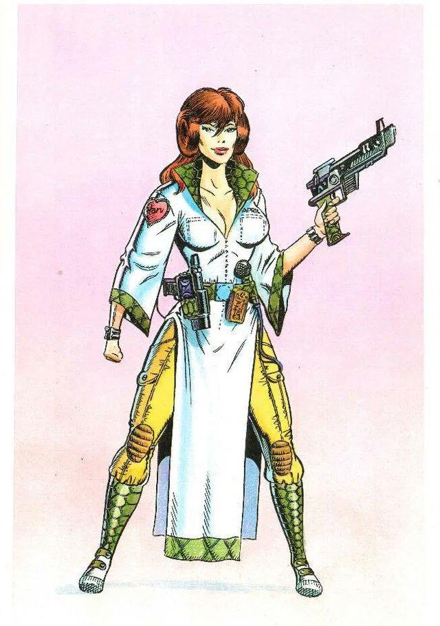 La Princesa April en arte conceptual del crossover Star Wars/Teenage Mutant Ninja Turtles por Michael Dooney. Imagen: Alan Johnson Twitter (@TheAlanJohnson).