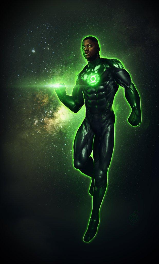 Green Lantern/John Stewart (Wayne T. Carr) en arte conceptual de Zack Snyder's Justice League (2021) por Jojo Aguilar. Imagen: Jojo Aguilar Twitter (@jojoaguilar33).