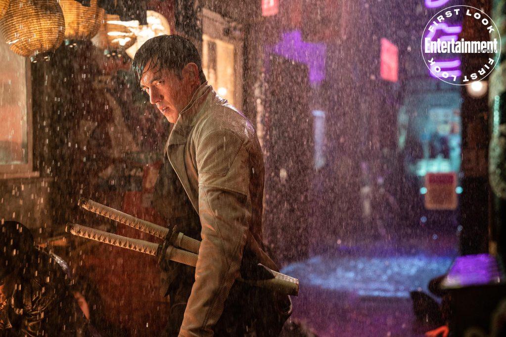 Storm Shadow (Andrew Koji) en Snake Eyes: G.I. Joe Origins (2021). Imagen: Ed Araquel/Paramount Pictures/Entertainment Weekly