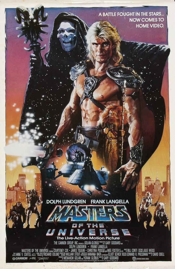 Póster de Masters of the Universe (1987). Arte por Drew Struzan. Imagen: impawards.com