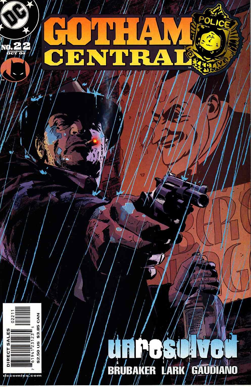 El Detective Harvey Bullock en la portada de Gotham Central #22 (octubre de 2004). Imagen: dreamlandcomics.com