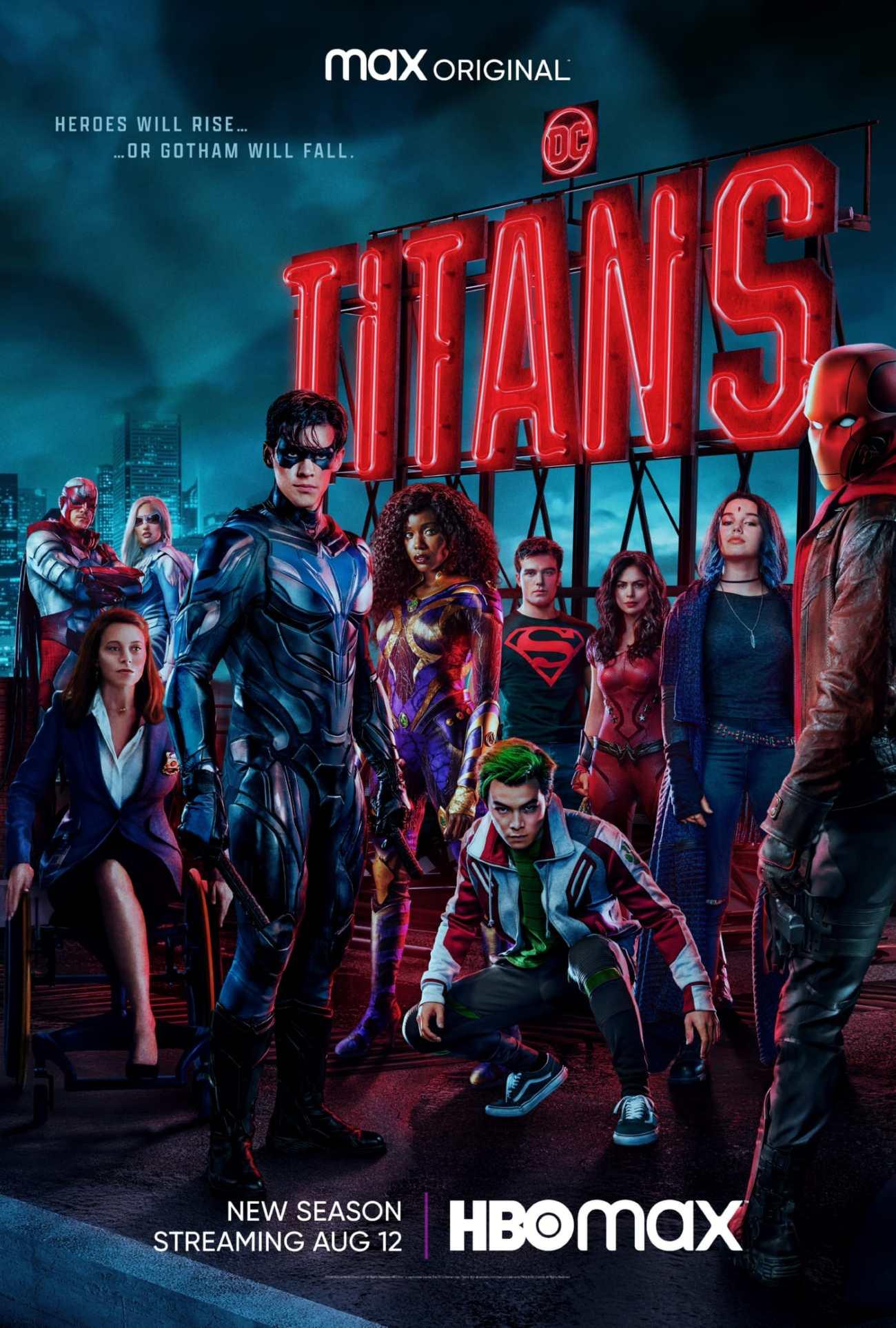 Póster promocional de la temporada 3 de Titans. Imagen: SpoilerTV