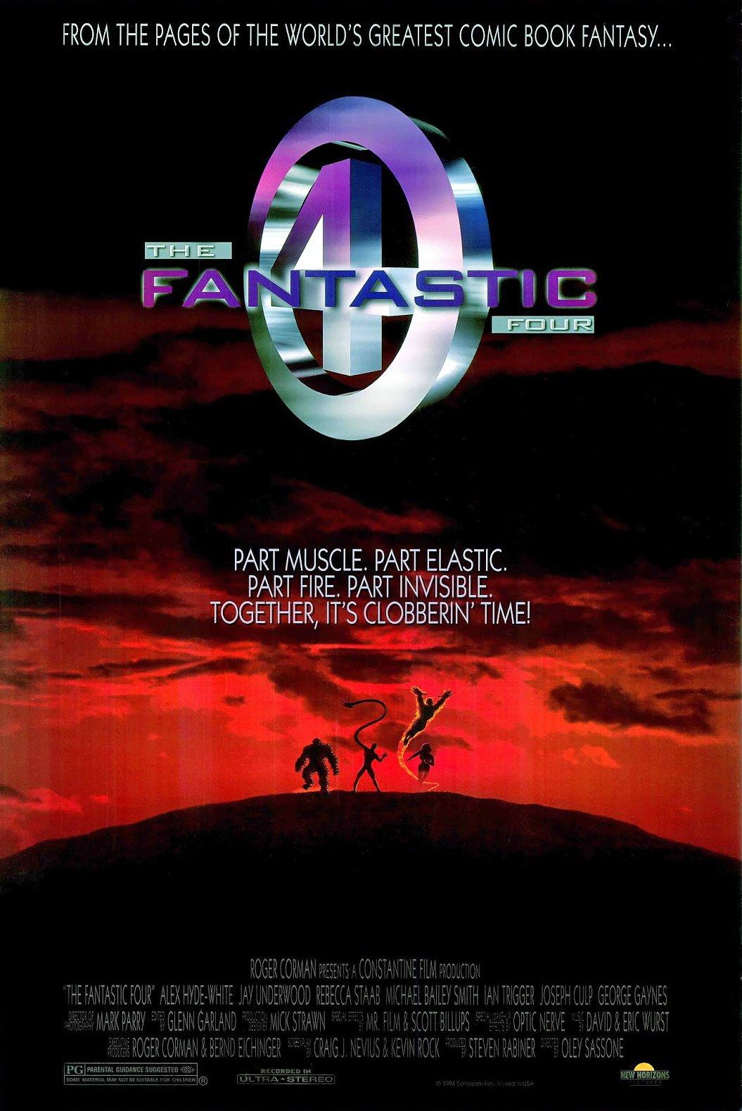 Póster de The Fantastic Four (1994). Imagen: moviemicroreview Twitter (@moviemicrorw).