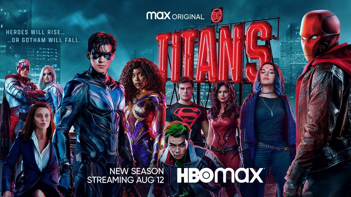 Póster promocional de la temporada 3 de Titans. Imagen: DC Titans on Max Twitter (@DCTitans).