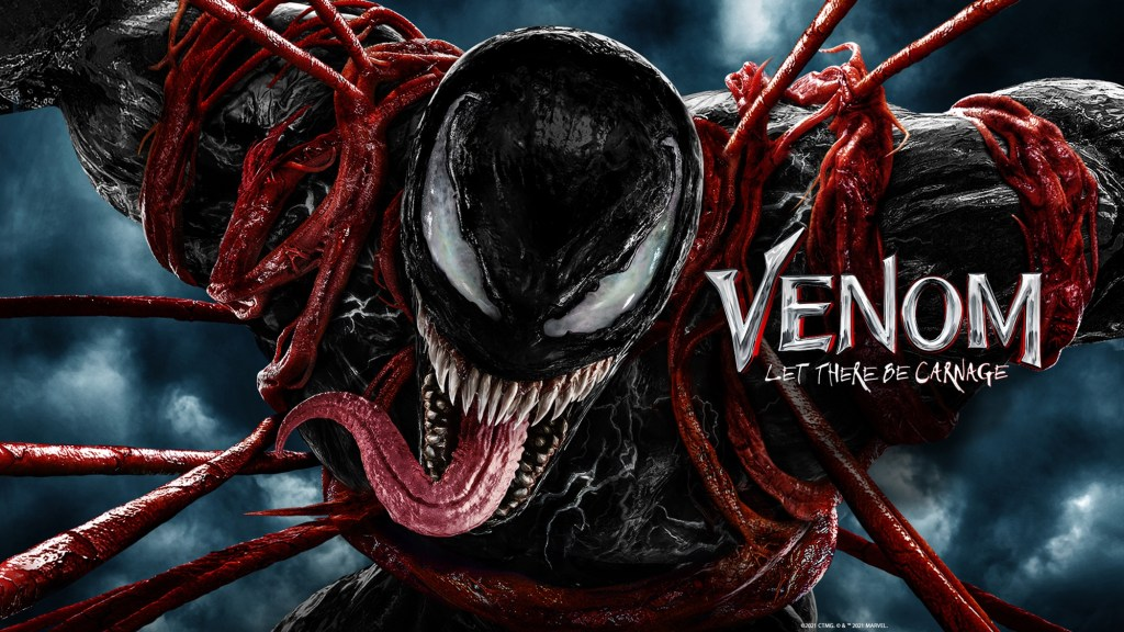 Arte promocional de Venom: Let There Be Carnage (2021). Imagen: Sony Pictures/Columbia Pictures/Marvel Entertainment