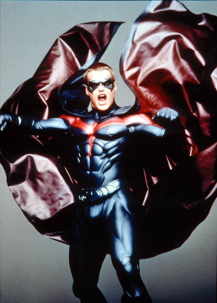 Robin/Dick Grayson (Chris O'Donnell) en Batman & Robin (1997. Imagen: listal.com