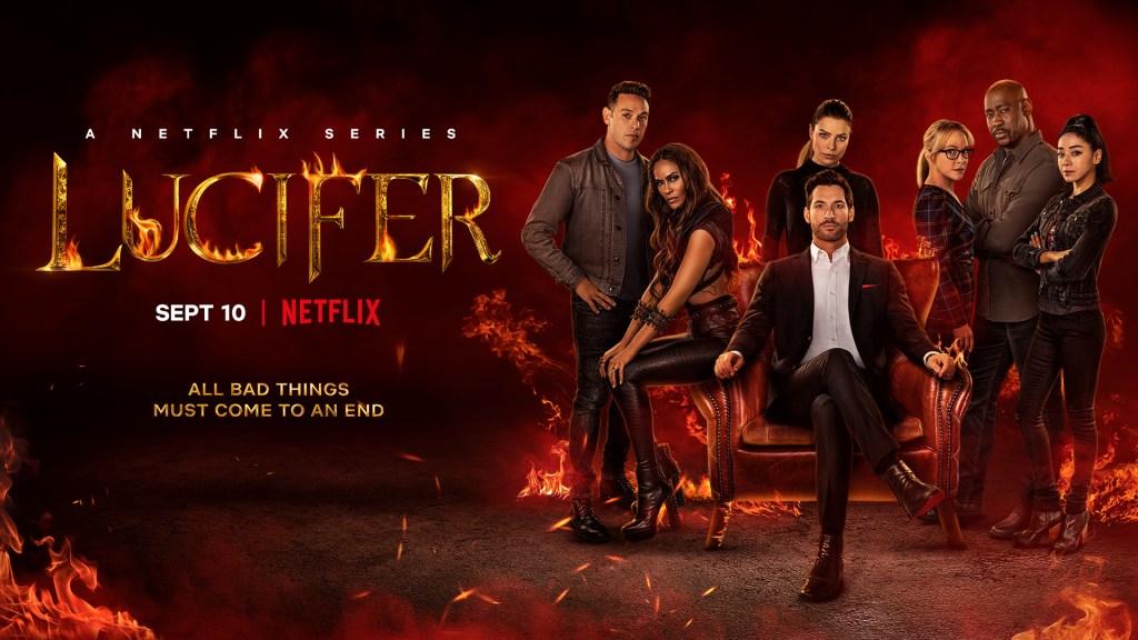 Póster de la temporada 6 de Lucifer. Imagen: Lucifer Twitter (@LuciferNetflix).