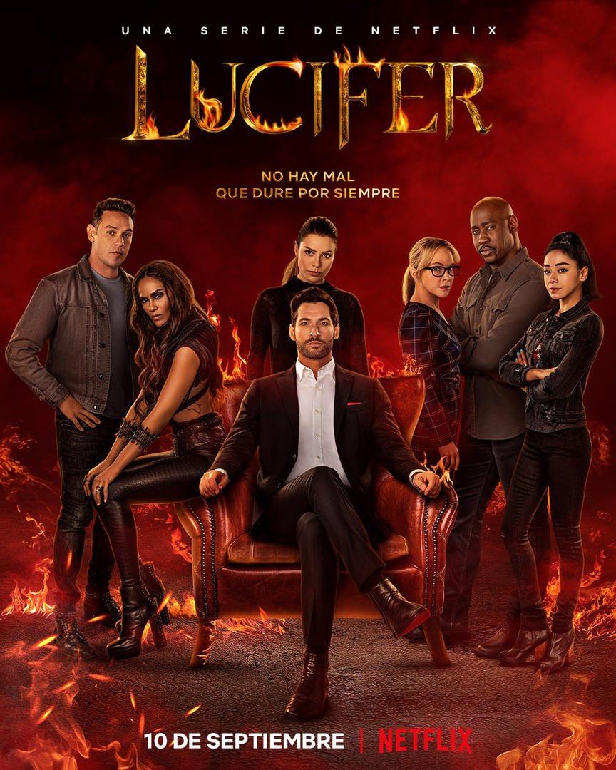 Póster en español de la temporada 6 de Lucifer. Imagen: Netflix Latinoamérica (@NetflixLAT).