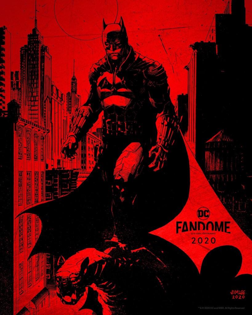 Póster promocional de The Batman (2022) para DC FanDome 2020. Arte por Jim Lee. Imagen: impawards.com