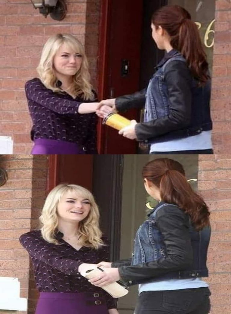 Mary Jane Watson (Shailene Woodley) y Gwen Stacy (Emma Watson) en The Amazing Spider-Man 2: Rise of Electro (2014). Imagen: cinemascomics.com