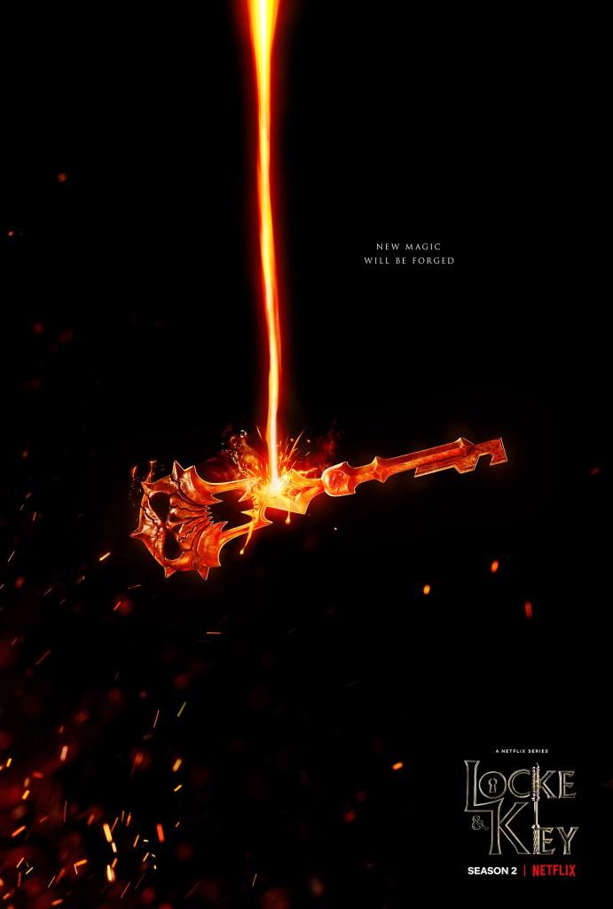 Póster promocional de la temporada 2 de Locke & Key. Imagen: 1428elm.com