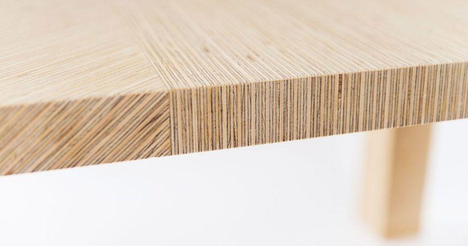 ply veneer wood in geometric shapes