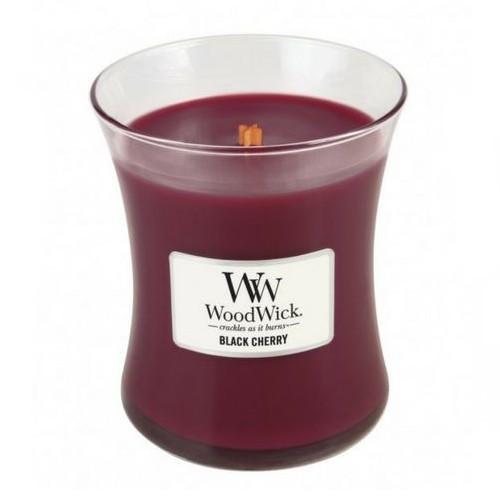 WoodWick Geurkaars Black Cherry Medium
