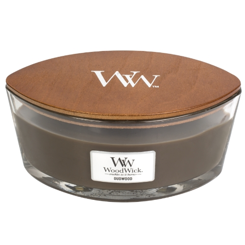 WoodWick Geurkaars Oudwood HearthWick Ellipse