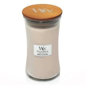 WoodWick Geurkaars Vanilla & Sea Salt Large