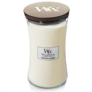 WoodWick Geurkaars White Tea & Jasmine Large