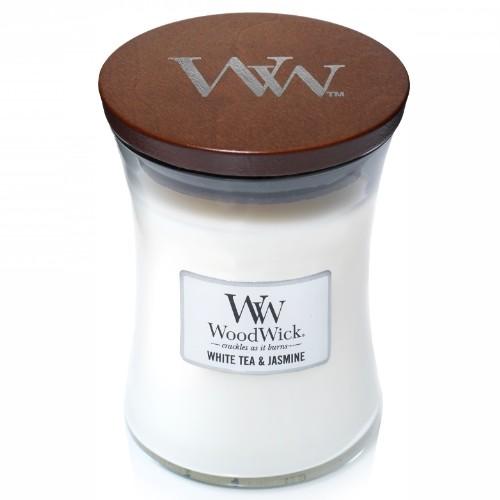 WoodWick Geurkaars White Tea & Jasmine Medium