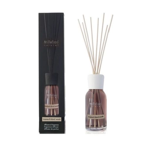 Millefiori Milano Natural Geurstokjes Incense & Blond Woods 250 ml