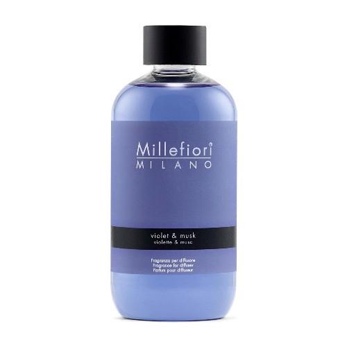 Millefiori Milano Geurstokjes Navulling Violet & Musk 250ml