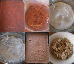 Minitortulete cu ciocolata, pralina de alune si pere