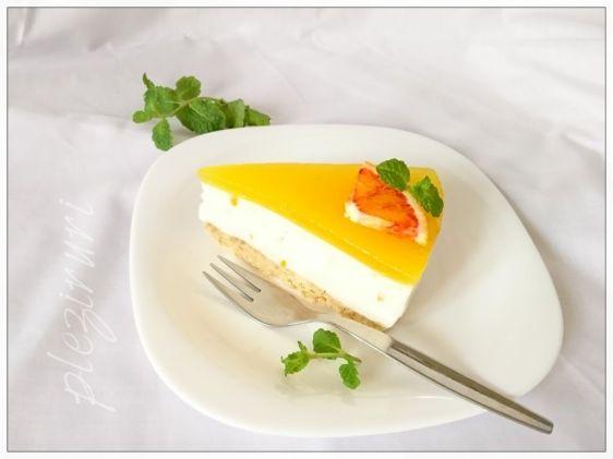 Cheesecake italian cu ricotta si portocale