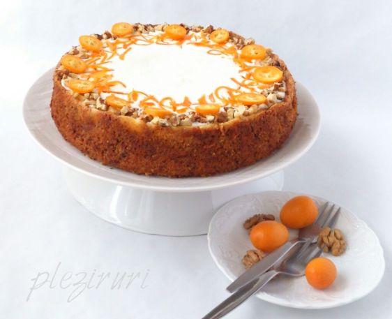 Cheesecake pe blat de morcovi