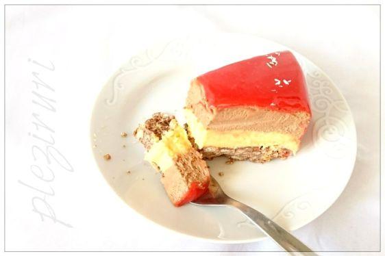 Tort Be mine cu fructul pasiunii si ciocolata