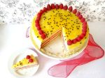 Tort Passionata cu zmeura si fructul pasiunii