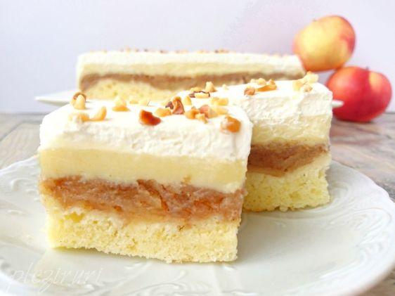 Prajitura cu mere si crema de vanilie