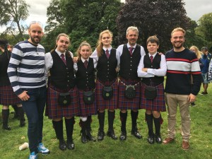 Preston Lodge High School Pipe BandFond Farewells at Peebles