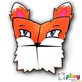 Marionnette Renard Cocotte en papier à imprimer - Les loisirs créatifs Pliay