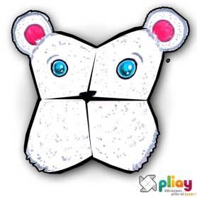 Marionnette Ours polaire Cocotte en papier à imprimer - Les loisirs créatifs Pliay