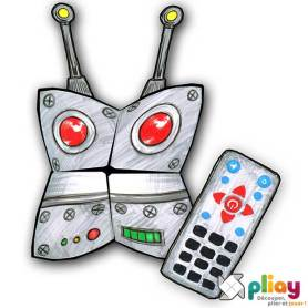 Marionnette Robot Cocotte en papier à imprimer - Les loisirs créatifs Pliay