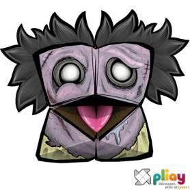 Marionnette Zombie Cocotte en papier à imprimer - Les loisirs créatifs Pliay