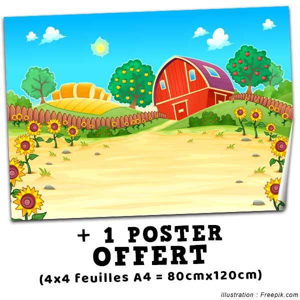Offert dans ce pack : 1 poster de 80x120cm