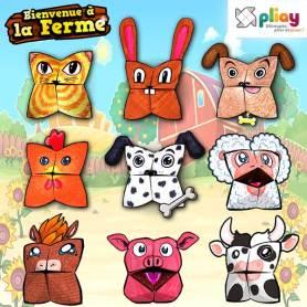 Marionnettes en papier des animaux de la ferme