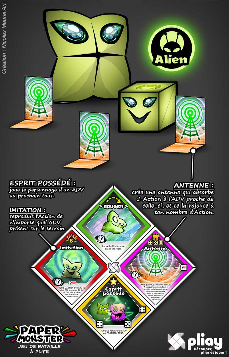 Présentation du PaperMonster Vert Alien