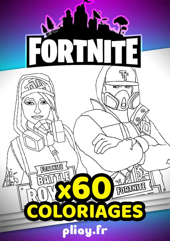 Coloriages Fortnite Pack De 60 Coloriages A Imprimer Pliay