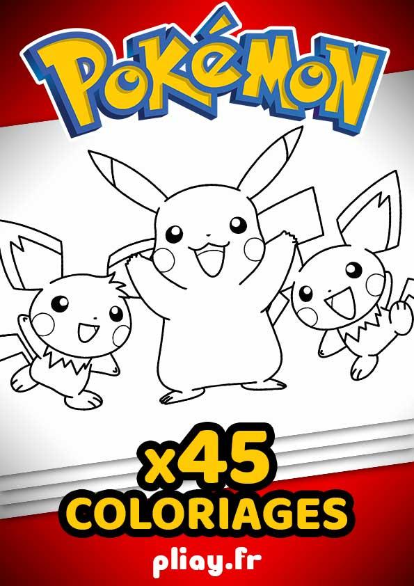 Coloriages Pokemon Pack De 45 Coloriages A Imprimer Pliay