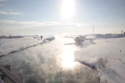 千歳川の川霧