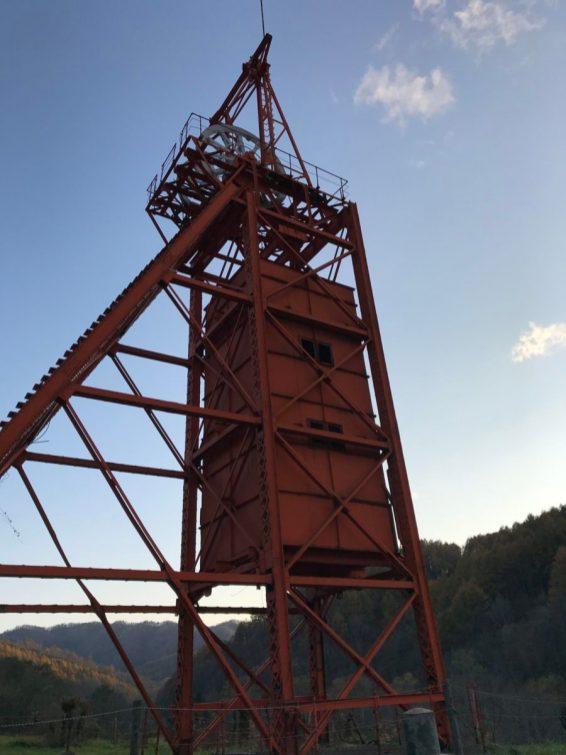 三菱美唄炭鉱竪坑櫓