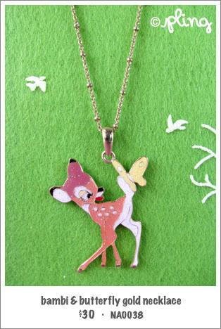 NA0038 - bambi & butterfly necklace