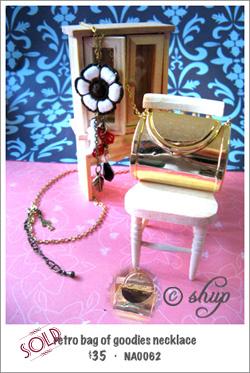 NA0062 - retro bag of goodies necklace