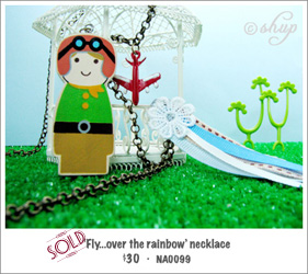 NA0099 - 'Fly...over the rainbow' necklace
